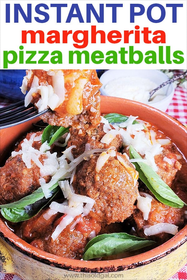 Pressure Cooker Low Carb Margherita Pizza Stuffed Meatballs