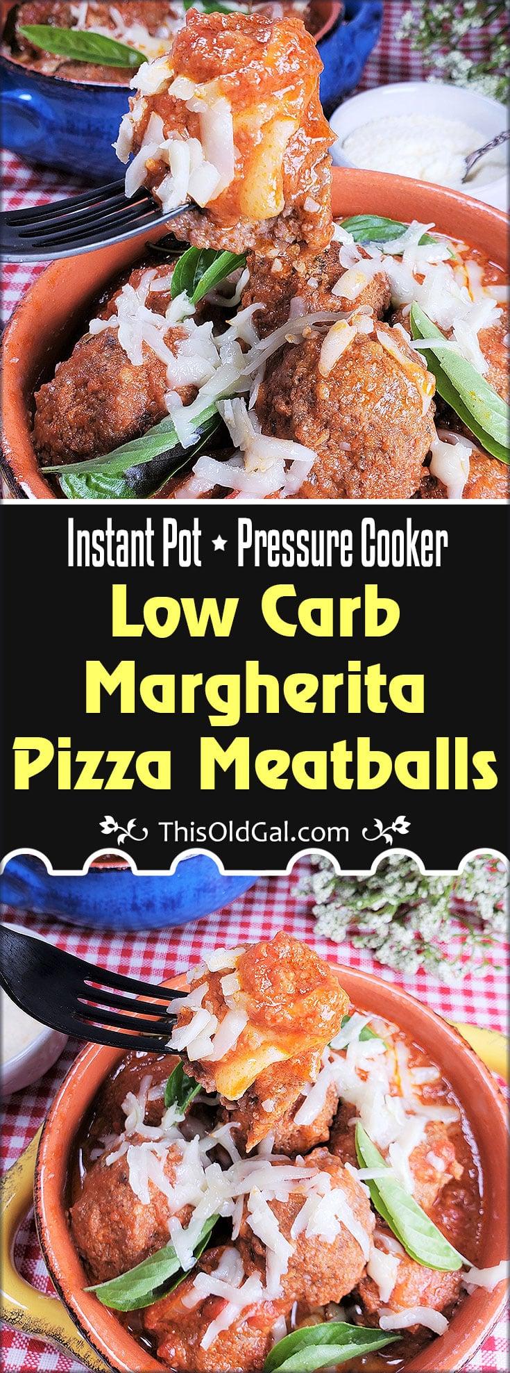Instant Pot Keto Margherita Pizza Meatballs