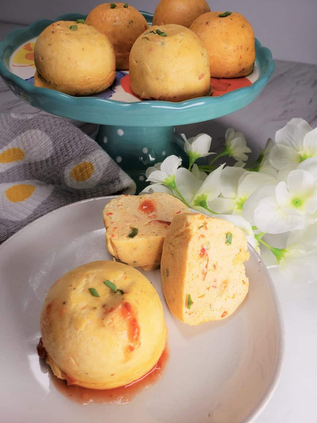 Instant Pot Feta Cheese & Red Pepper Egg Bites