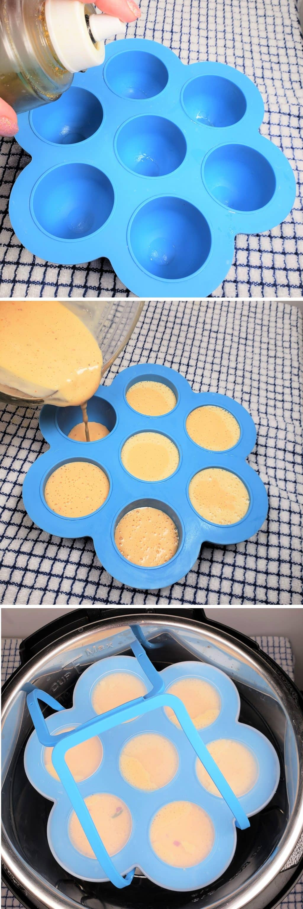 Fill the Egg Bites Tray