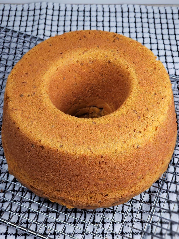 Instant Pot Pumpkin Cake on Cooling Rack