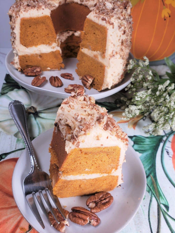 Instant Pot Pumpkin Bundt Cake w/Butterscotch