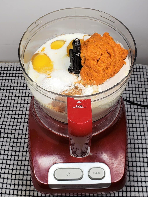 Mix up the Bundt Cake Batter in Food Processor