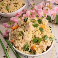 Instant Pot Chicken Fried Cauliflower Rice