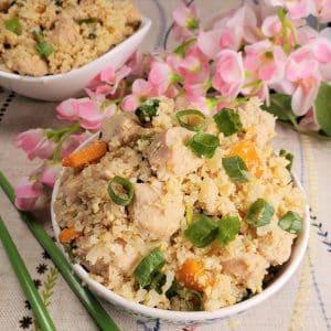 Instant Pot Chicken Fried Cauliflower Rice