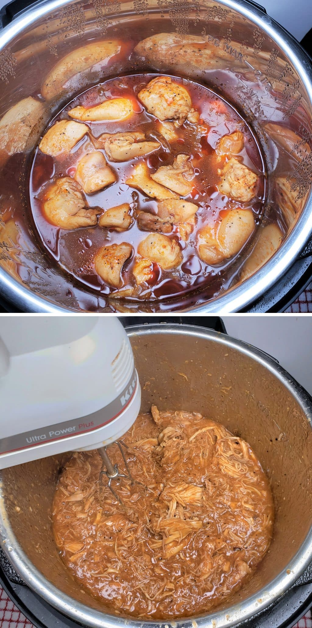 Shred Chicken with Electric Hand Mixer