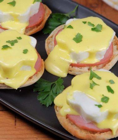 Instant Pot Pressure Cooker Eggs Benedict