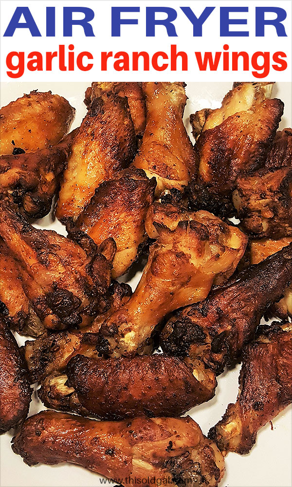 Air Fryer Garlic Ranch Chicken Wings