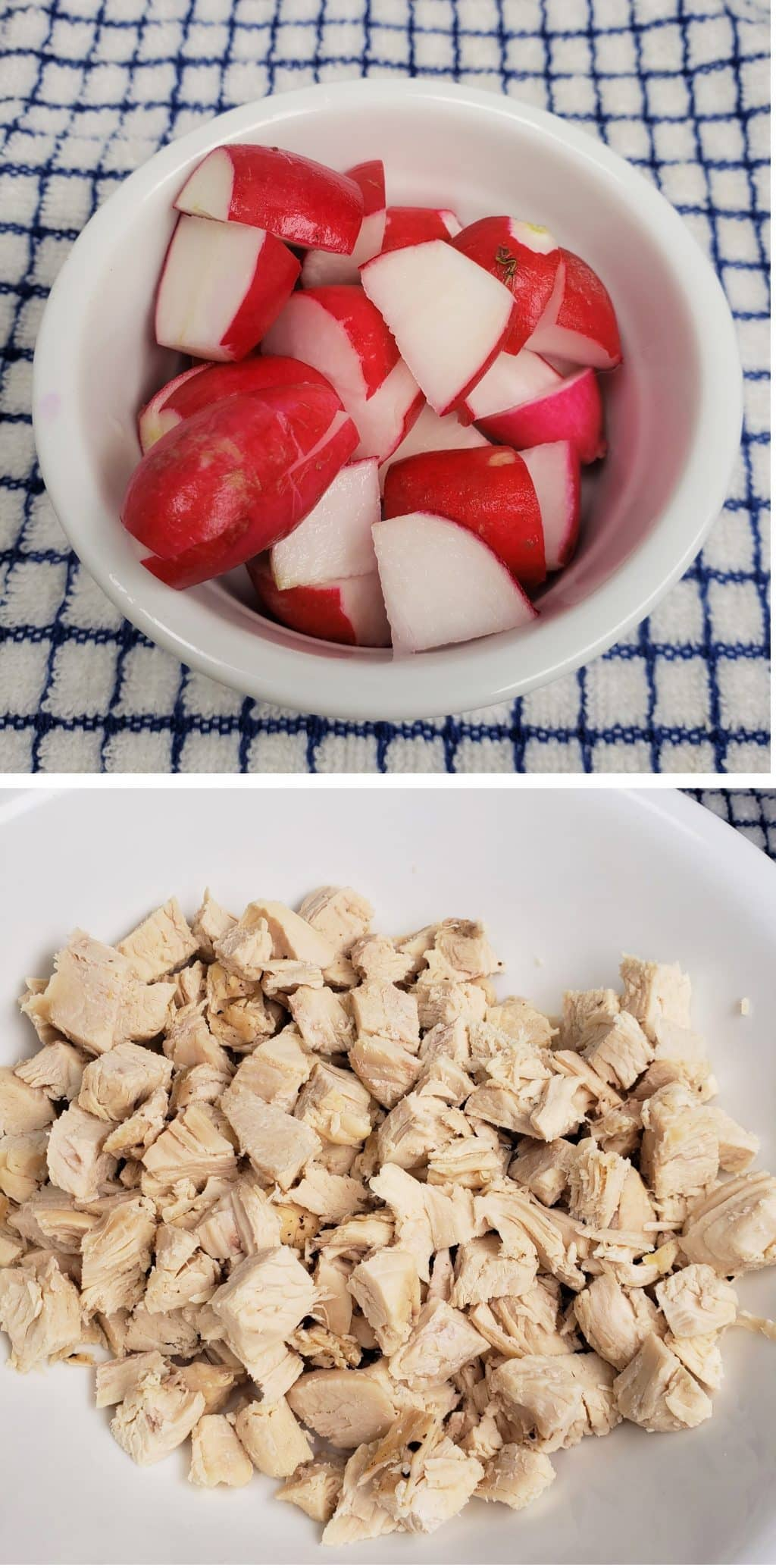 Chop Radish and Chicken
