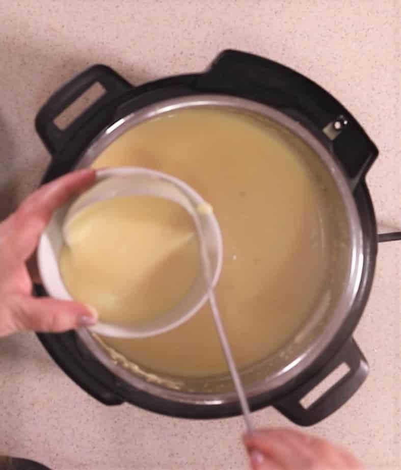 Ladle Soup into Bowl