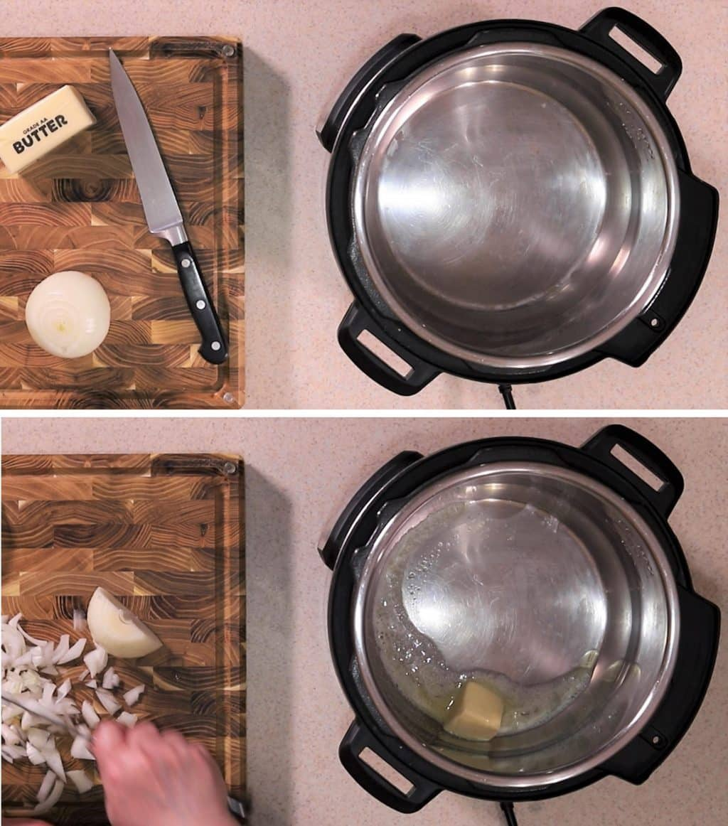Preheat Instant Pot and Add Butter