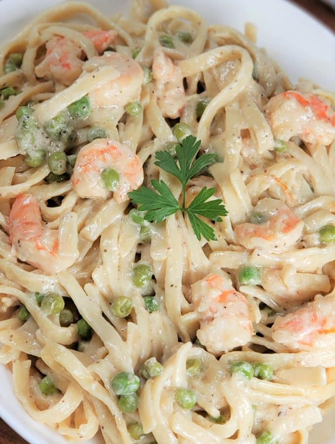 Instant Pot Dijon Shrimp Linguine