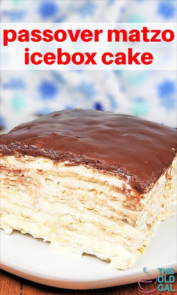 Passover Matzo Icebox Layer Cake