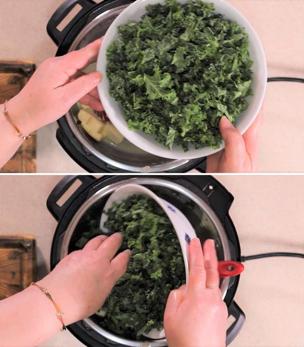 Add 6 Cups Curly Kale