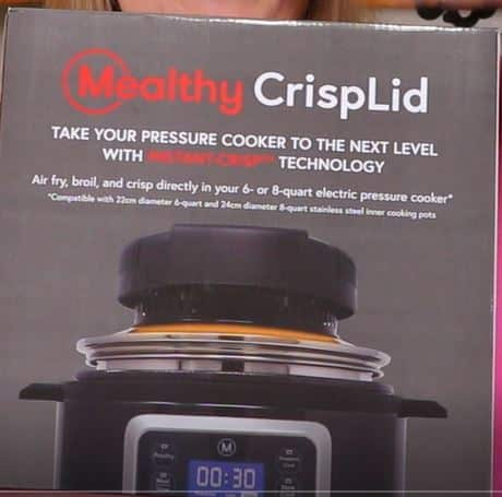 Crisplid Fits on Top of Pressure Cooker