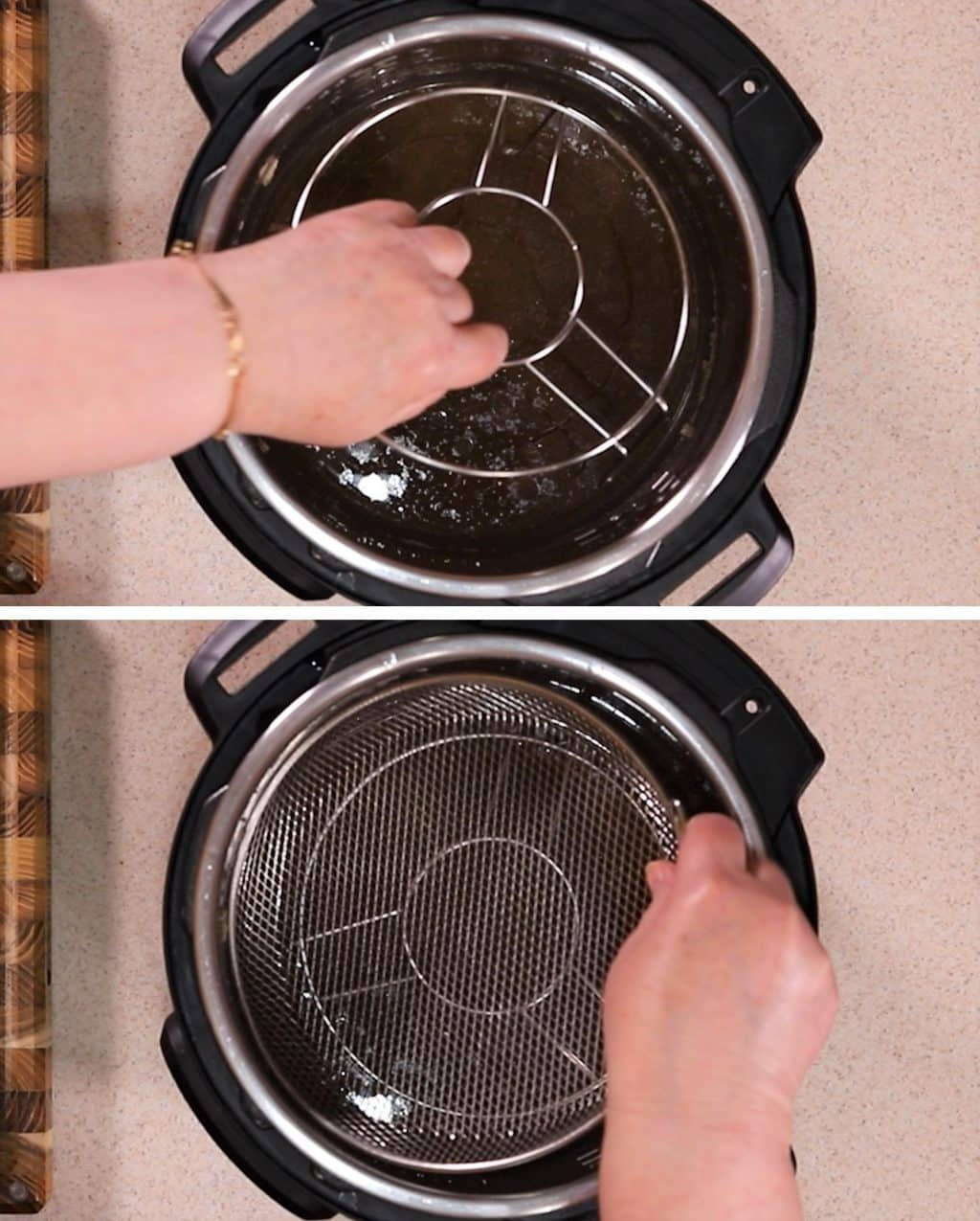 Place Trivet and CrispLid Basket into Instant Pot