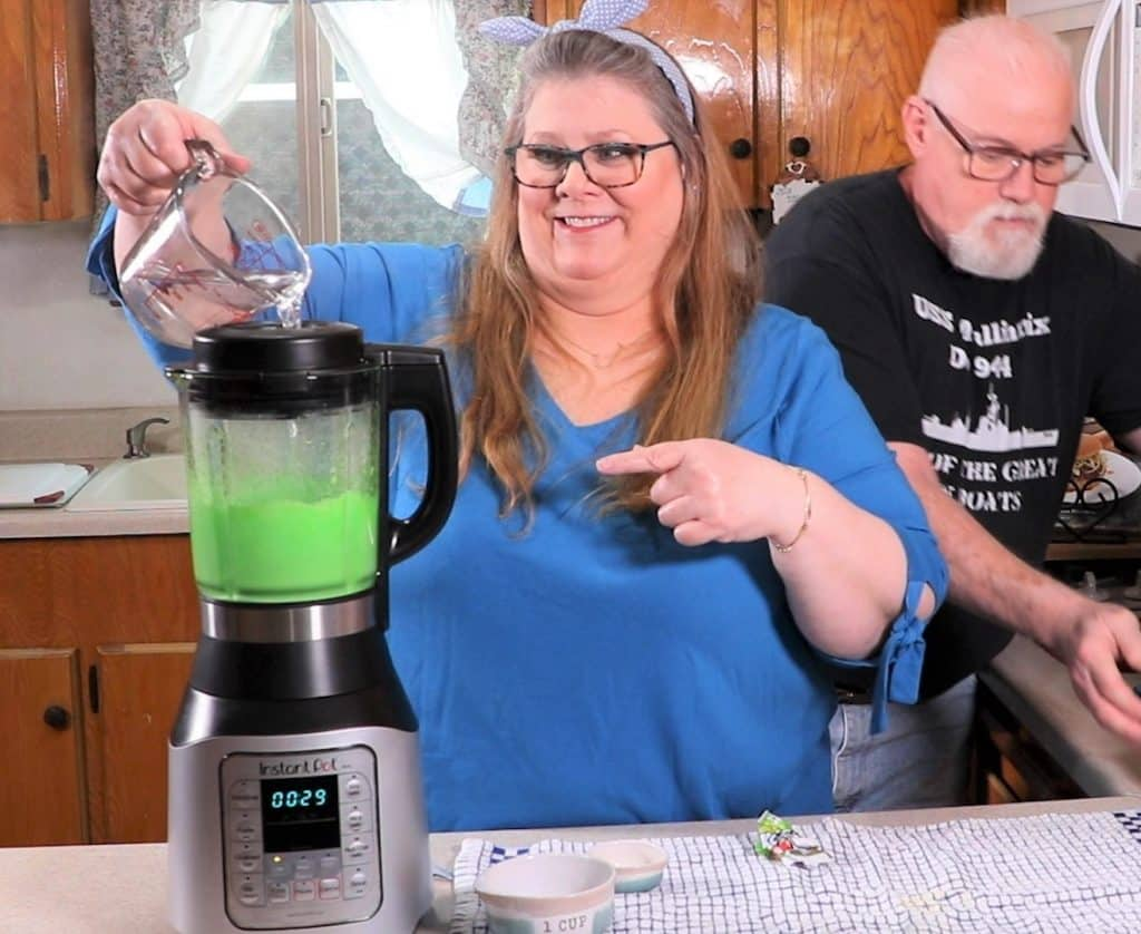 Pour in Fresh Water with Blender on Low