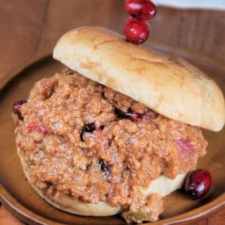 Instant Pot Cranberry Turkey Sloppy Joes