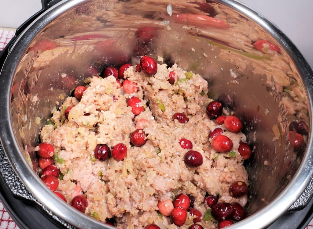 Add Whole Cranberries to Cooking Pot
