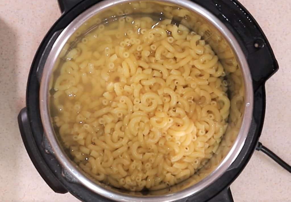 Cooked Macaroni with Extra Liquid