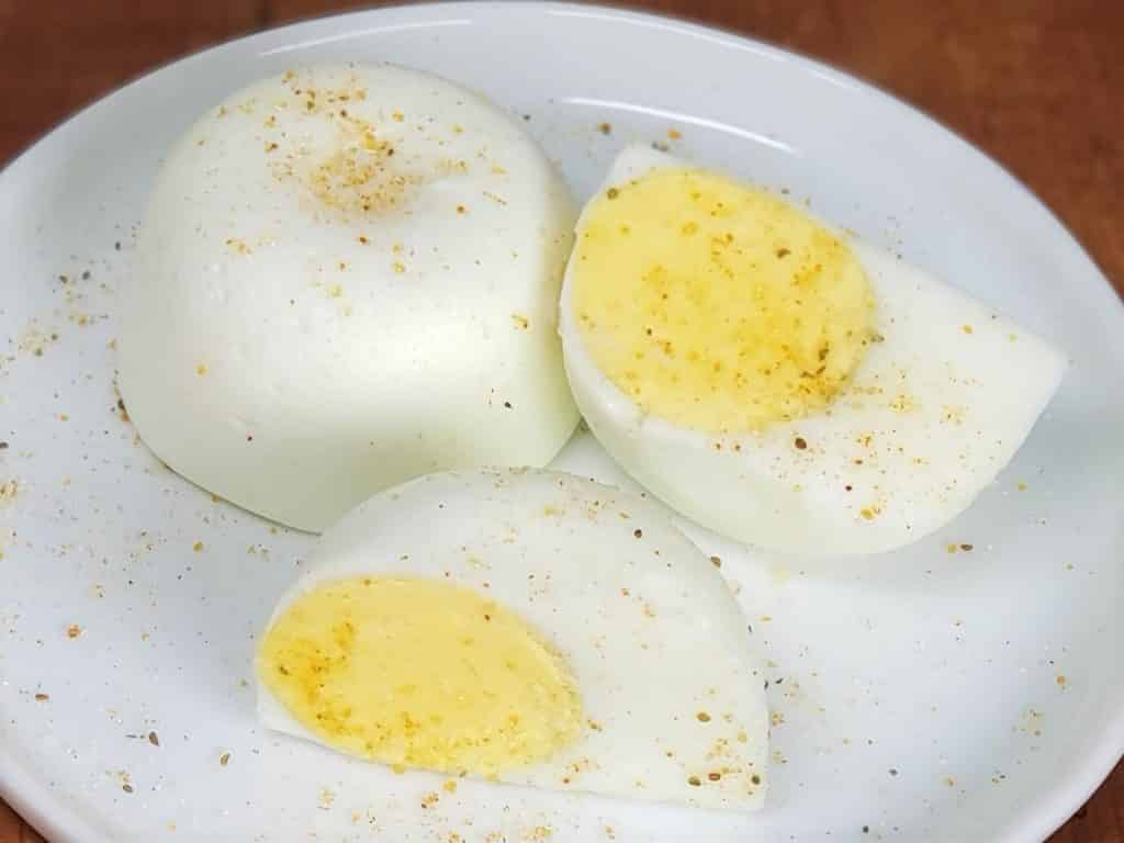 No Peel Hard Boiled Eggs