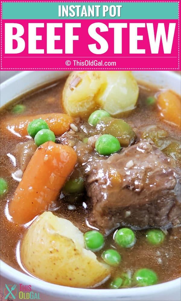 Instant Pot / Pressure Cooker Beef Stew