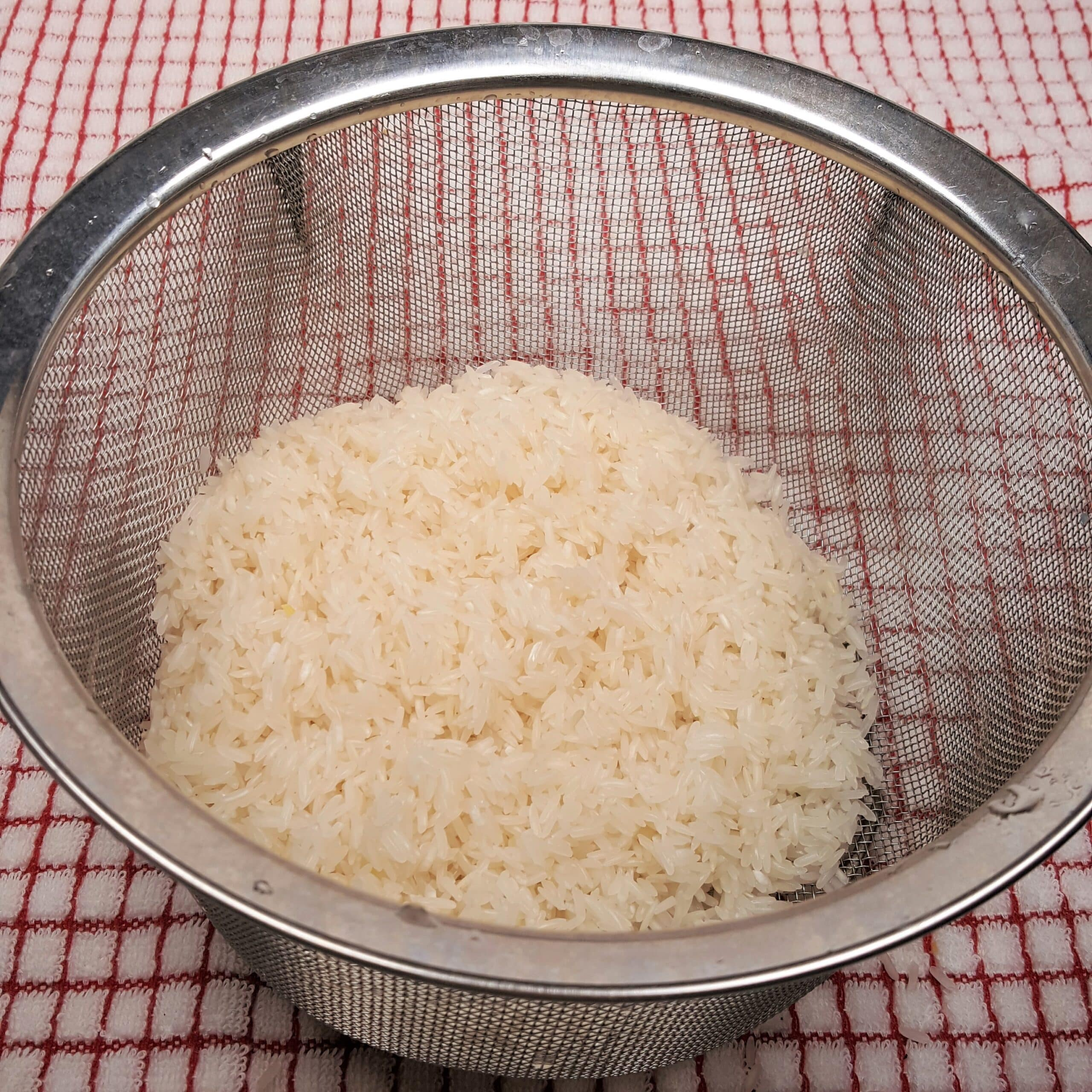 Rinse the Rice in a Colander
