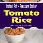 Pressure Cooker Jollof Rice is a West African one pot, stewed tomato, peppers and onions rice side dish, typically served for parties and special occasions.