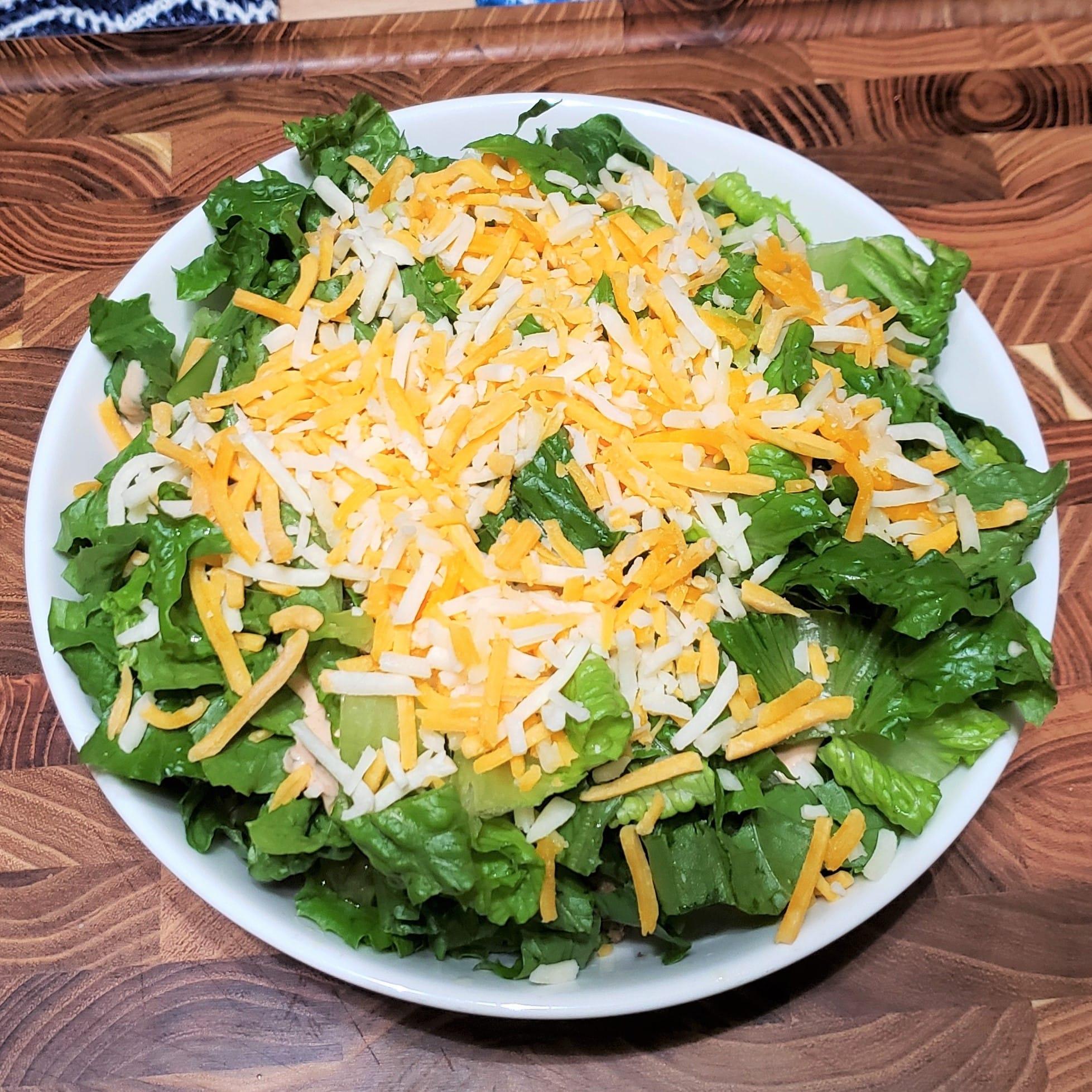 Add Shredded Cheese on Top oAdd Shredded Cheese on Top of Lettuce for Big Mac Salad