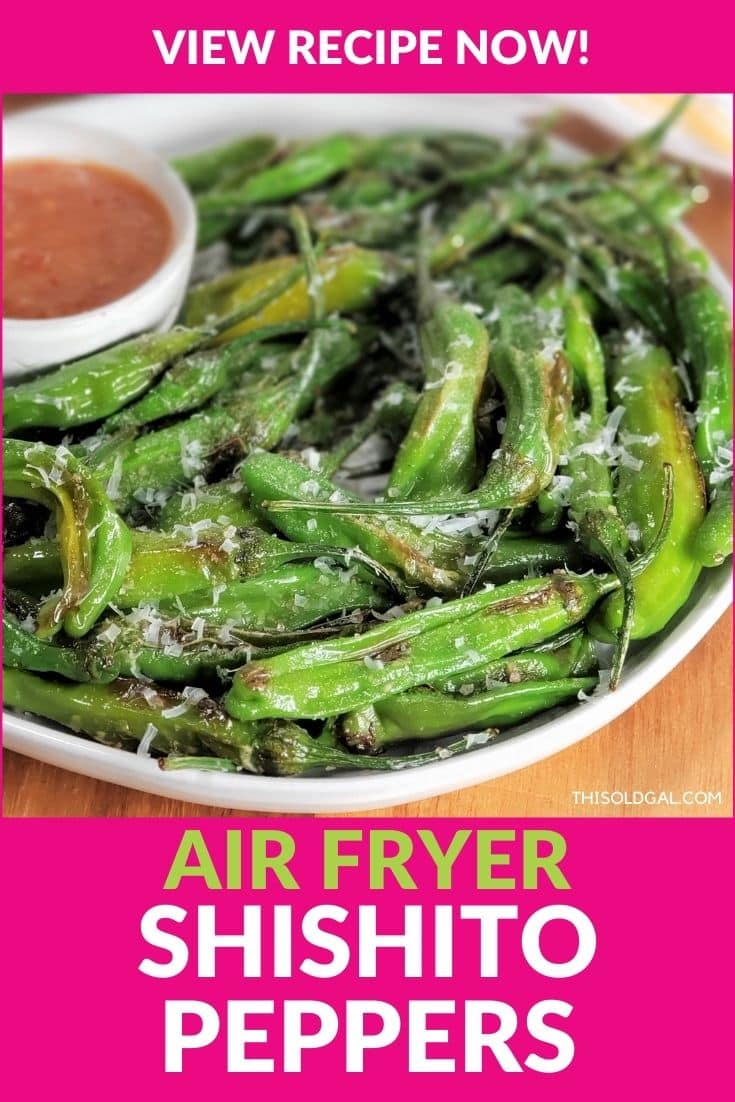 Air Fryer Japanese Blistered Shishito Peppers