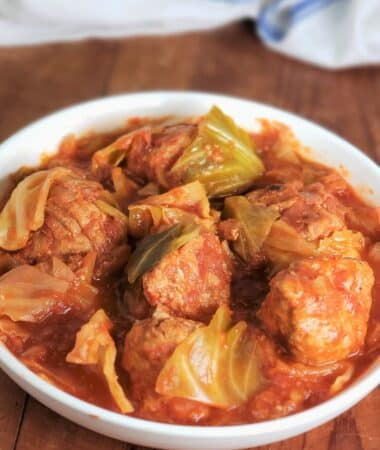 Instant Pot Low Carb Unstuffed Cabbage Rolls