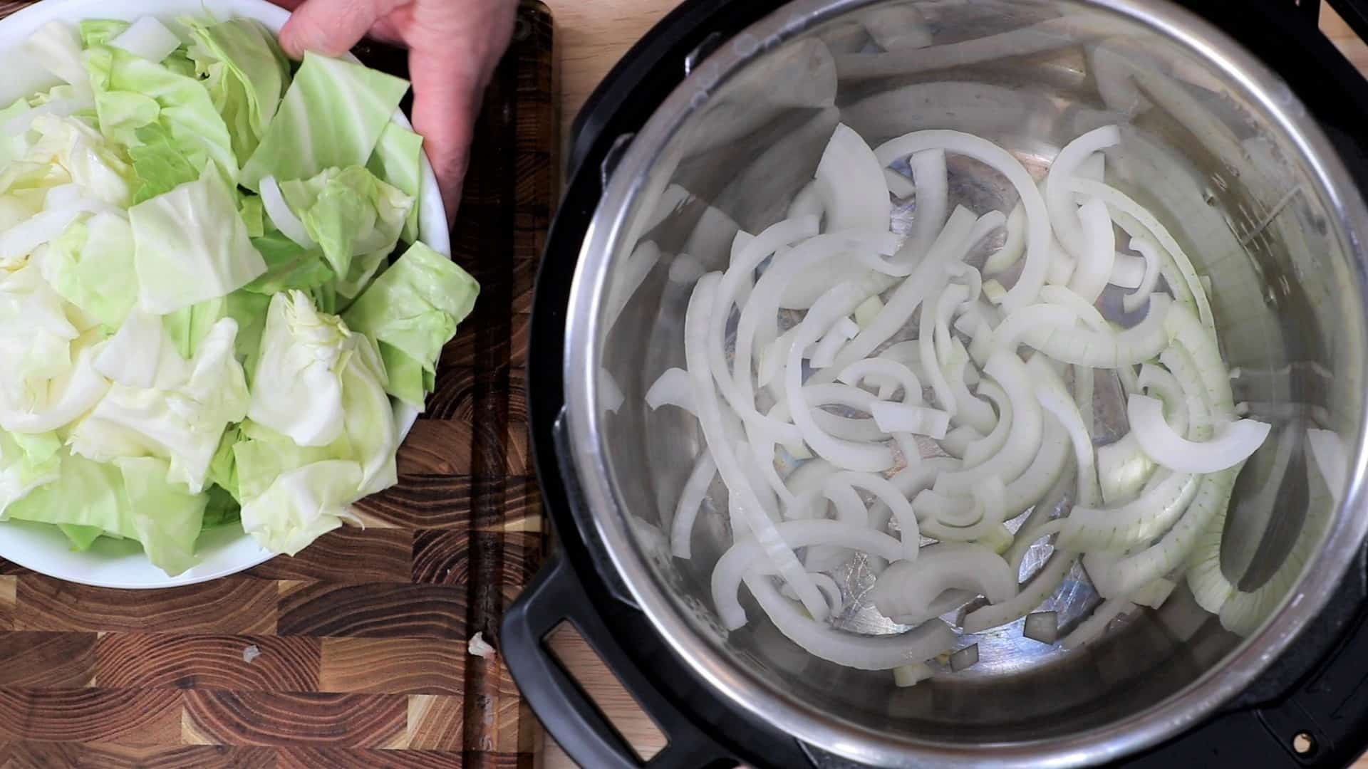 Spread One Sliced Onion in Bottom of Pot