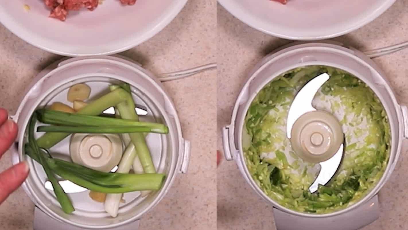 Chop Ginger, Garlic, Scallions