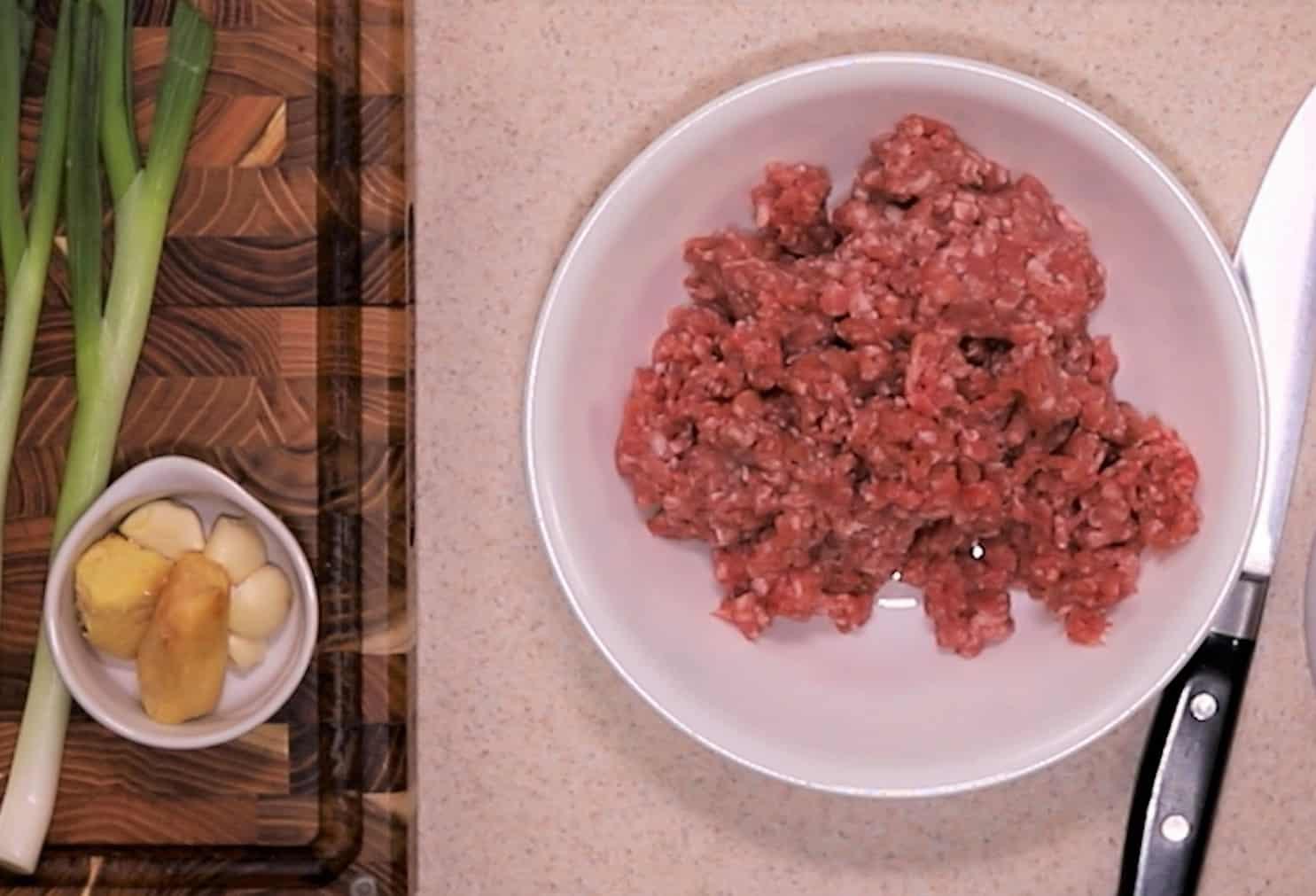 Low Carb Wonton Soup Starts with Ground Pork